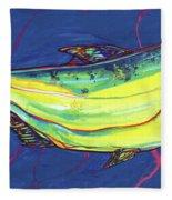 Salmon Of Knowledge Fleece Blanket