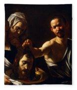 Salome Receives Head Of John The Baptist Fleece Blanket