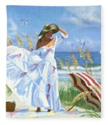 Salt Aire Blues Fleece Blanket
