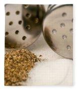 Salt And Pepper Shaker Spilled Fleece Blanket