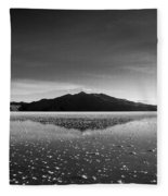 Salt Cloud Reflection Black And White Fleece Blanket