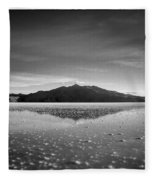 Salt Cloud Reflection Black And White Select Focus Fleece Blanket