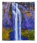 Salt Creek Falls Fleece Blanket