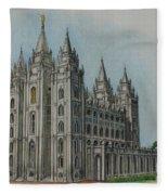 Salt Lake City Temple I Fleece Blanket