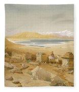 Salt Lake - Thibet, From India Ancient Fleece Blanket