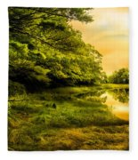 Salt Marsh Kittery Maine Fleece Blanket