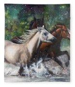 Salt River Horseplay Fleece Blanket