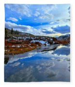 Salt River Reflections Fleece Blanket