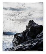 Salt Spray In The Air Fleece Blanket