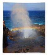 Salt Spray Rainbow Fleece Blanket