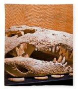 Salt Water Crocodile Skull Fleece Blanket