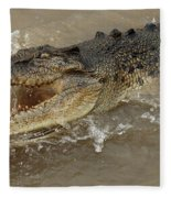 Saltwater Crocodile Fleece Blanket
