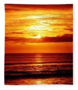 Salty Sunrise Fleece Blanket