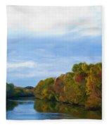 Saluda River In The Fall Fleece Blanket