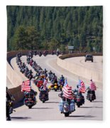 Salute To Veterans Rally Fleece Blanket