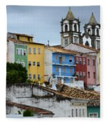 Salvador Brazil The Magic Of Color Fleece Blanket