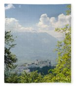Salzburg Fortress 1 Fleece Blanket