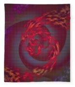 Samba Dancer Abstract Digital Painting Fleece Blanket
