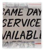 Same Day Service Available Fleece Blanket