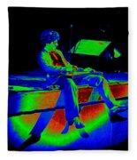 S H In Technicolor 1977 Fleece Blanket