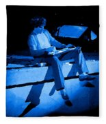 S H Playing Bad Motor Scooter In Spokane 1977 Blue Fleece Blanket