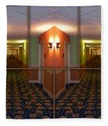 Sample Paneled Hallway Mirrored Image Fleece Blanket