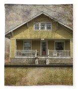 Sample Paneled Yellow Bungalow Fleece Blanket