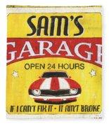 Sam's Garage Fleece Blanket