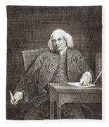 Samuel Johnson, English Author Fleece Blanket