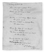 Samuel Taylor Coleridge (1772-1834) Fleece Blanket