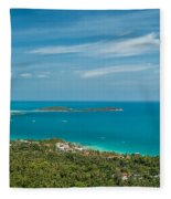 Samui Thailand Fleece Blanket