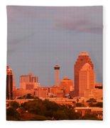 San Antonio - Skyline At Last Light Fleece Blanket