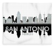 San Antonio Tx 4 Fleece Blanket