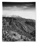 San Bernardino Snow Fleece Blanket