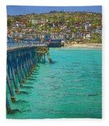 San Clemente Pier Fleece Blanket