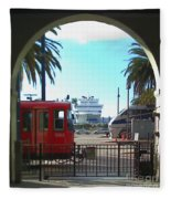San Diego Transportation Fleece Blanket
