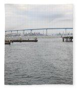 San Diego Coronado Bridge 5d24351 Fleece Blanket
