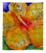 San Diego Hibiscus Study IIi Upward Facing  Fleece Blanket