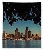 San Diego Sunrise Fleece Blanket