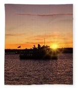 San Diego Sunset Fleece Blanket