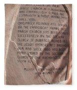 San Felipe De Neri Fleece Blanket