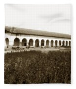 San Fernando Mission Circa 1900 Fleece Blanket
