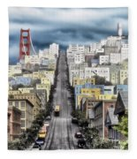 San Francisco Backlot Walt Disney World Fleece Blanket