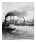 San Francisco Bay, C1889 Fleece Blanket