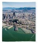 San Francisco Bay Piers Aloft Fleece Blanket