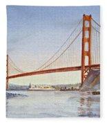 San Francisco California Golden Gate Bridge Fleece Blanket