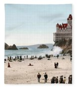 San Francisco Cliff House 1902 Fleece Blanket