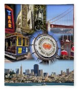 San Francisco Collage Fleece Blanket
