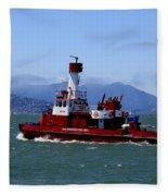 San Francisco Fire Department Fire Boat Fleece Blanket