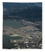 San Francisco International Airport Fleece Blanket